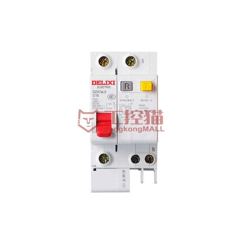 德力西電氣-DZ47sLE 1P+N C 20A-DZ47sLE 小型漏電保護斷路器