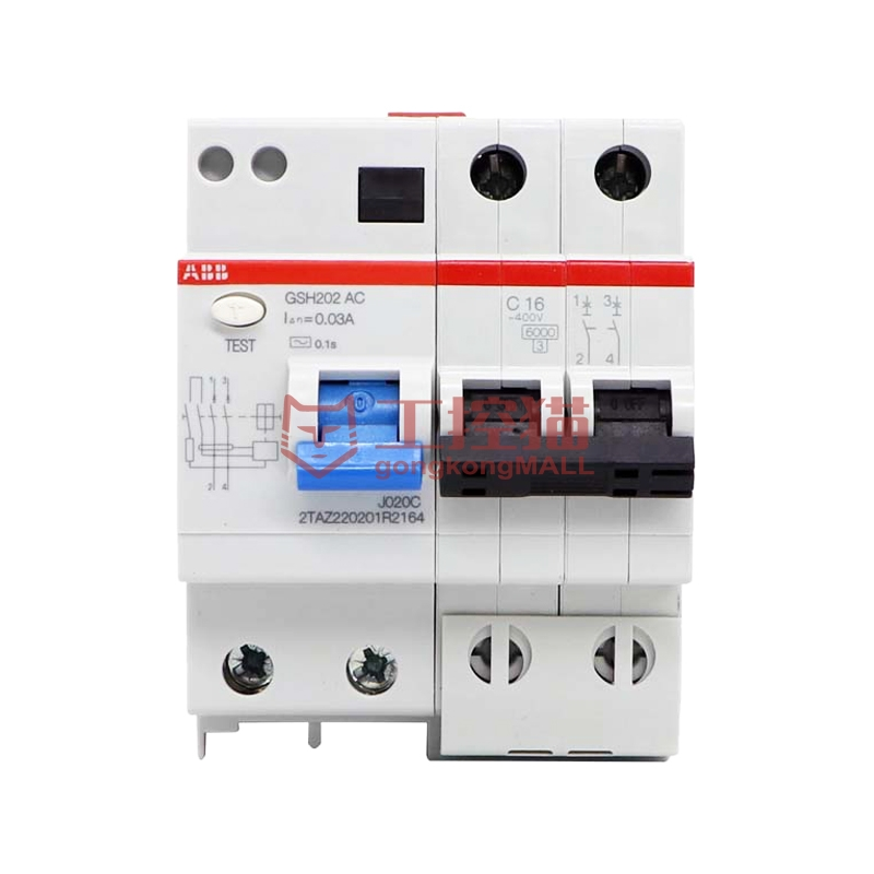 ABB-GSH202 AC-C20/0.03-GSH200 剩余电流动作断路器