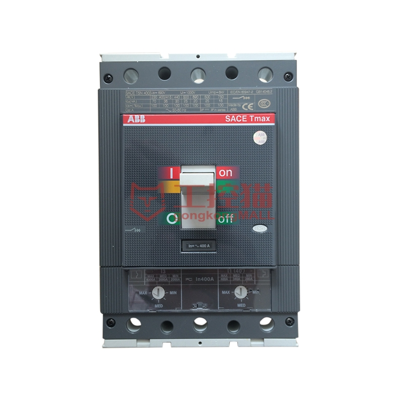 ABB-T5N400 TMA400/2000-4000 FF 3P-Tmax 交流配电保护用塑壳断路器